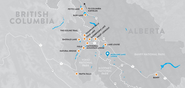 Image Explore Map Moraine Lake Lodge